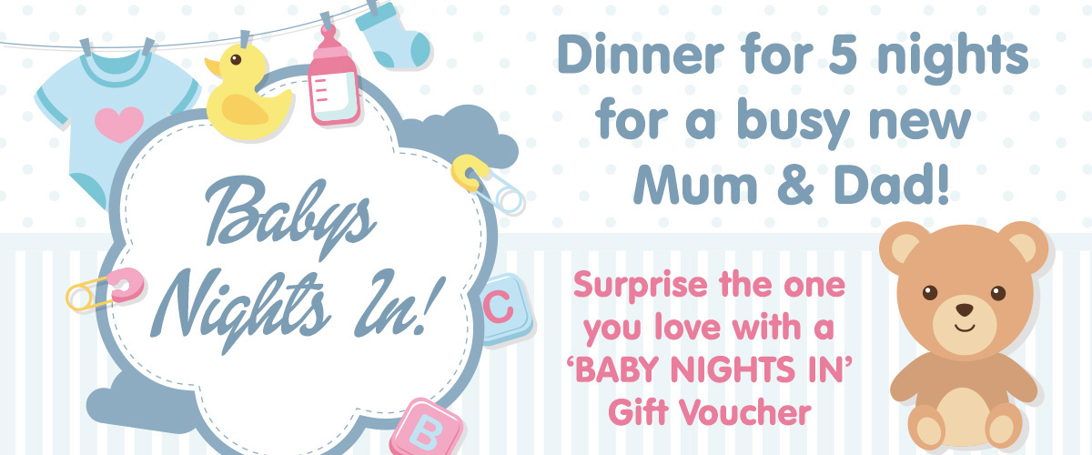 Luceys Good Food, Mallow - Baby Nights In, Dinner for 5 nights for a busy new mum & dad gift voucher