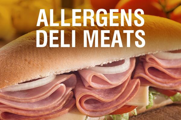 Allergens Deli Meats