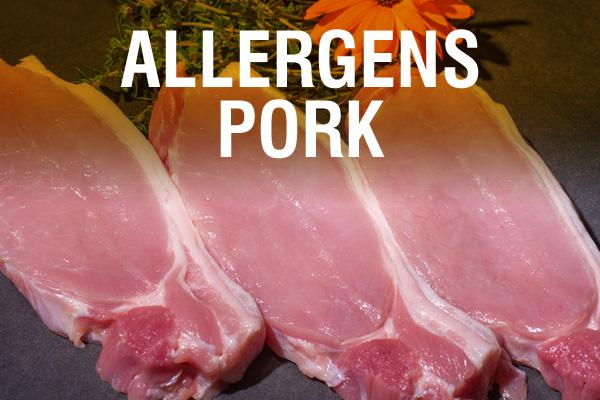 Allergens Pork
